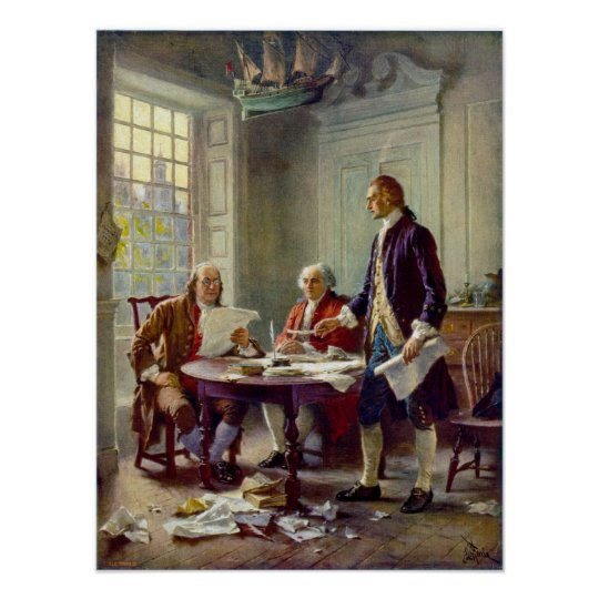 Writing the Declaration of Independence Ferris Poster