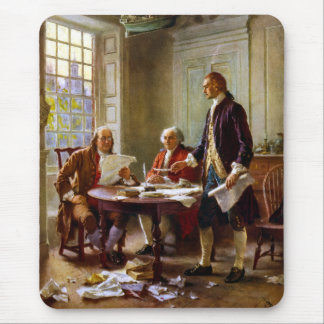 Writing The Declaration of Independence Mouse Pad