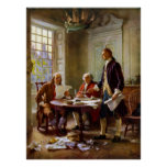 Writing The Declaration of Independence Posters