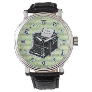 Writing Time Typewriter for Writers Custom Wrist Watch
