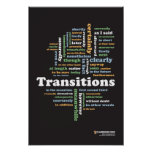 """Writing Transitions 13"""" x 19"""" Classroom Poster"""