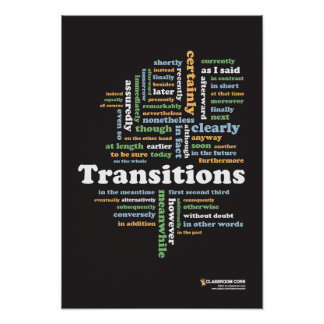 "Writing Transitions 13"" x 19"" Classroom Poster"