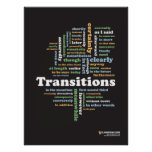 """Writing Transitions 18"""" x 24"""" Classroom Poster"""
