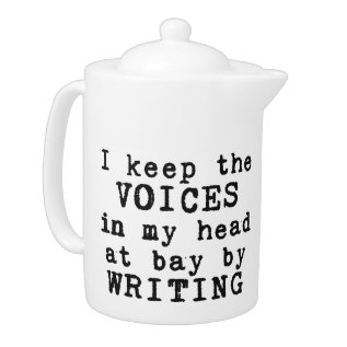 Writing/voices Teapot at Zazzle