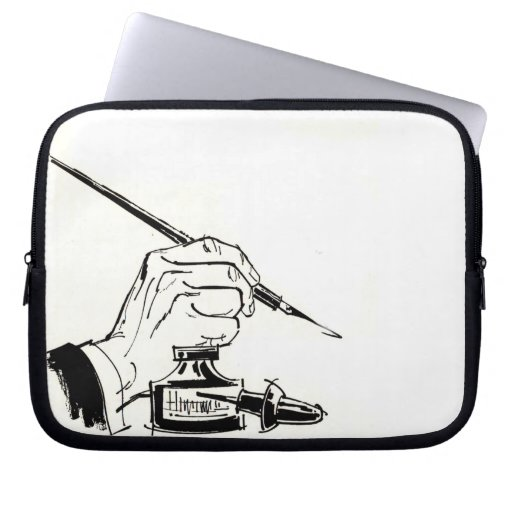 Writing With A Quill Pen Computer Sleeve