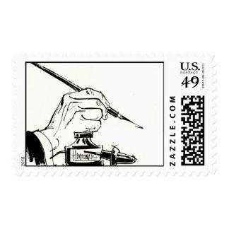 Writing With A Quill Pen Postage Stamps