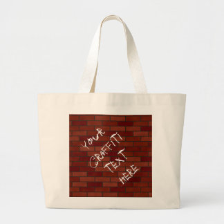 Writings on the brick wall canvas bags