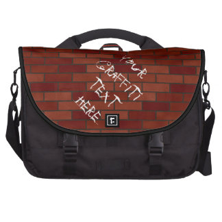 Writings on the brick wall bags for laptop