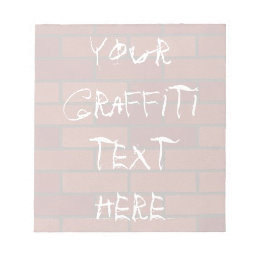 Writings on the brick wall memo note pads