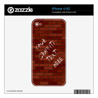 Writings on the brick wall skins for iPhone 4S