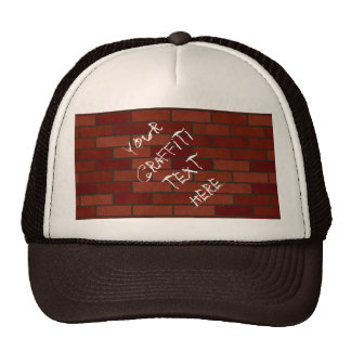 Writings on the brick wall trucker hat