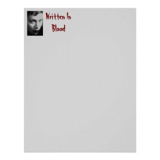 Written In Blood Paper Letterhead
