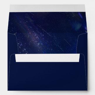 Written in the Stars   Galaxy Wedding Lined Envelope