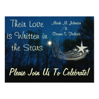 """Written in the Stars"" Wedding Invitation Template"