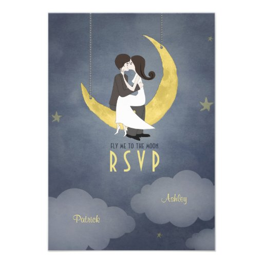 Written in the Stars Wedding RSVP Invitation