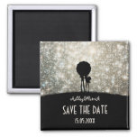 Written in the Stars Wedding Save the Date 2 Inch Square Magnet