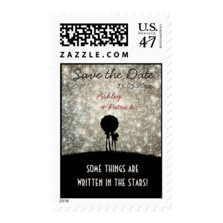 Written in the Stars Wedding Save the Date Postage
