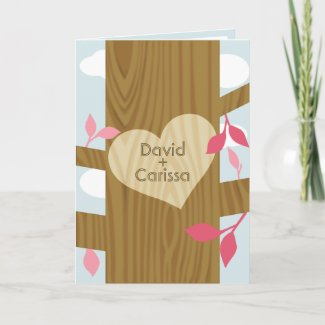 Written in Wood | Customized Valentine's Day Card