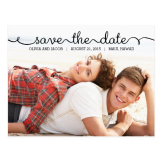 Written With Love Save The Date Postcard