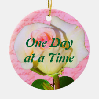 Written with Rose ODAT Double-Sided Ceramic Round Christmas Ornament