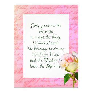 """Written with Rose"" Serenity Prayer Flyer"