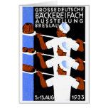 Wroclaw 1933/poster de la expo de Breslau Tarjetón