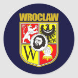 Wroclaw Pegatina Redonda