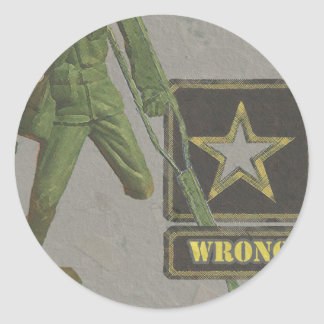 wrong classic round sticker