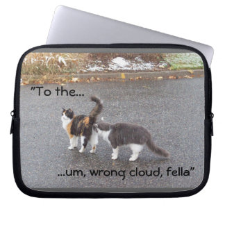 Wrong cloud! Funny Cats Laptop Sleeve