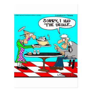 Wrong Coffee Funny Cow Cartoon Gifts & Tees Postcard