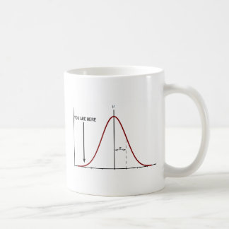 Wrong end of the bell curve mug statistics insult