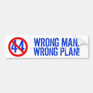 WRONG MAN, WRONG PLAN BUMPER STICKERS