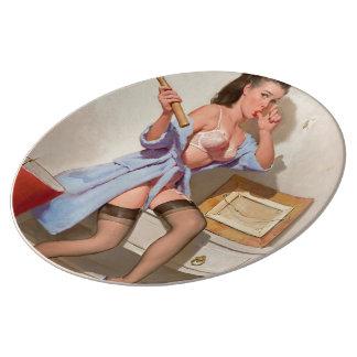 Wrong Nail Pin-up Girl Plate