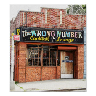 Wrong Number Print