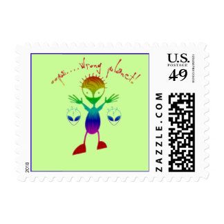 Wrong Planet Alien Stamps