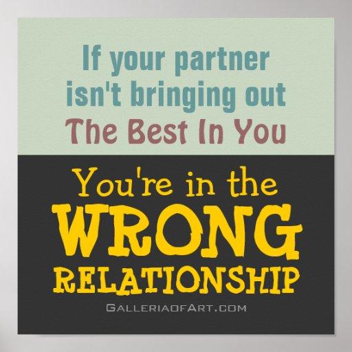 WRONG RELATIONSHIP ~ Poster / Print