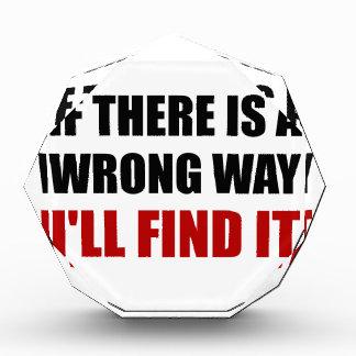 Wrong Way Find It Award