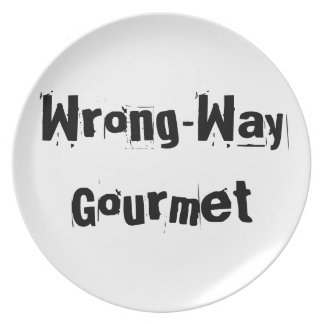 Wrong-Way Gourmet products from TroubleShooter Melamine Plate