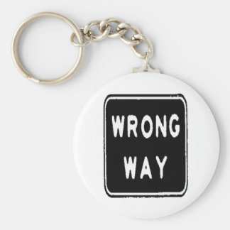 WRONG WAY KEYCHAINS