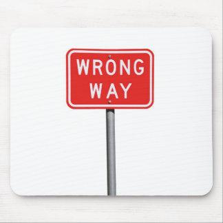 Wrong Way Sign Mouse Pad