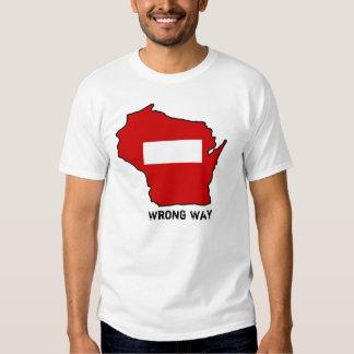 wrong-way-WI2, manera incorrecta Playera
