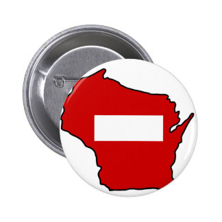 wrong way Wisconsin Button