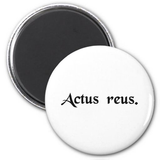 Wrongful act 2 inch round magnet