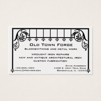 Wrought Iron Business Card