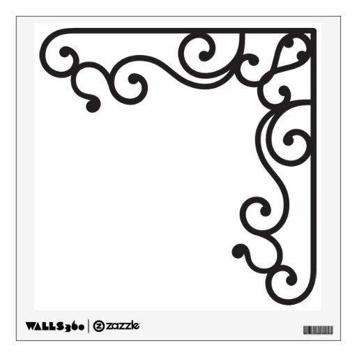 Wrought Iron Corner Room Graphics