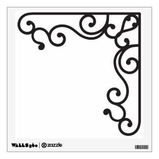Wrought Iron Corner Wall Sticker