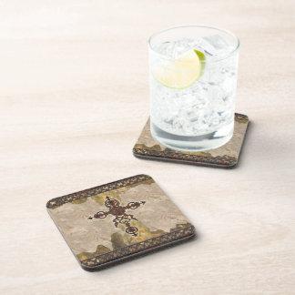 Wrought Iron Cross Beverage Coaster