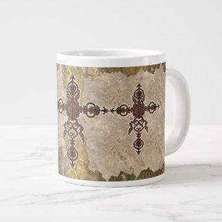 Wrought Iron Cross Giant Coffee Mug