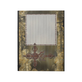 Wrought Iron Cross Lined Note Pad