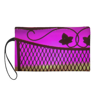 Wrought Iron Fancy Chair Back Wristlet Clutches